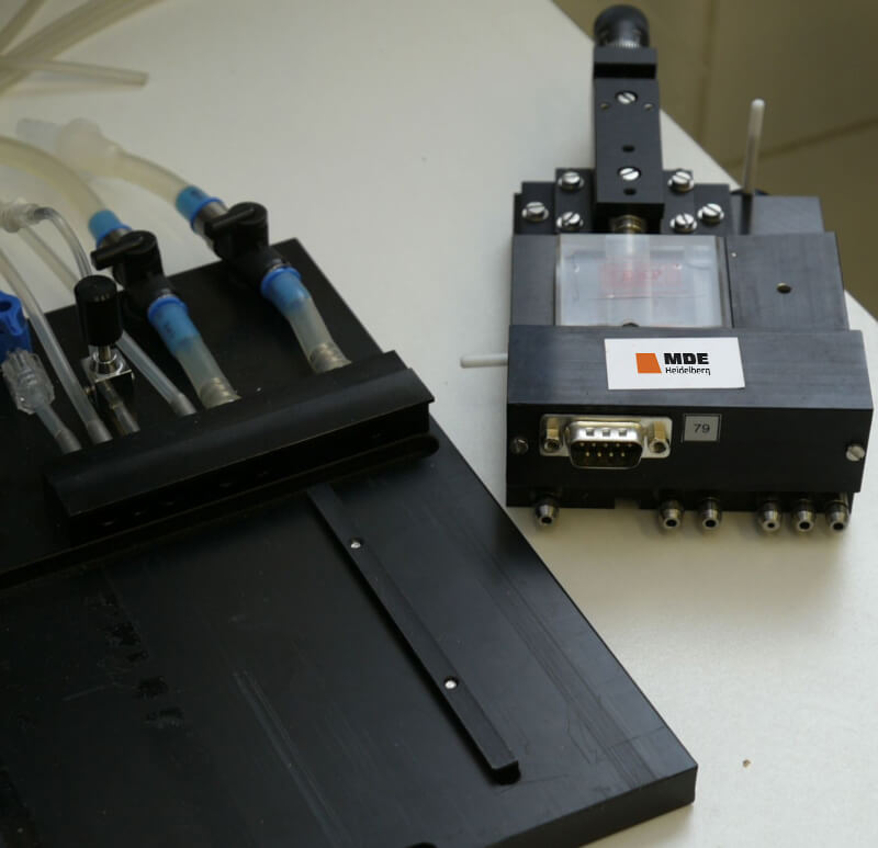 Measuring unit and baseplate